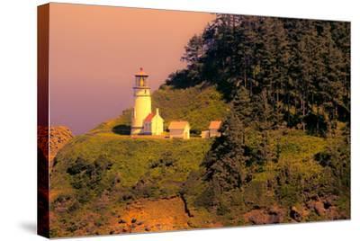 Heceta Head Lighthouse-George Johnson-Stretched Canvas Print