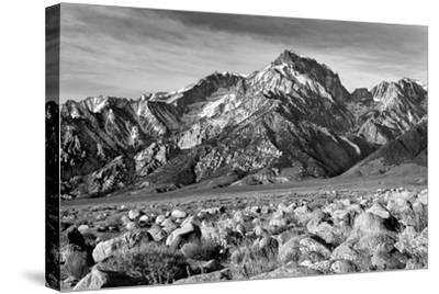 Mt Williamson II BW-Douglas Taylor-Stretched Canvas Print
