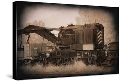 Work Train-George Johnson-Stretched Canvas Print