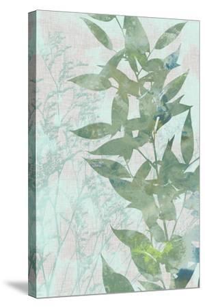 Watercolor Leaf Panel II-Jennifer Goldberger-Stretched Canvas Print