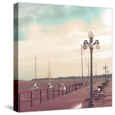 Vintage Sea Port-Andrekart Photography-Stretched Canvas Print