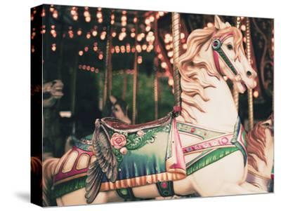 Vintage Carousel Horse-Andrekart Photography-Stretched Canvas Print