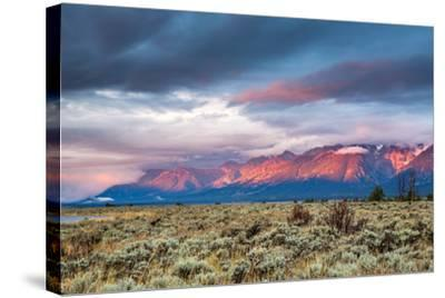 View of Grand Teton Mountain Range at Sunrise.-Victor Maschek-Stretched Canvas Print