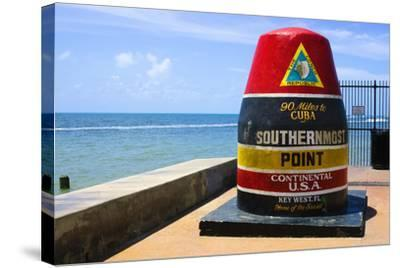 Southernmost Point in Continental USA in Key West,Florida-nito-Stretched Canvas Print