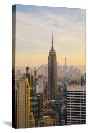 New York City Skyline with Urban Skyscrapers at Sunset-Irina Kosareva-Stretched Canvas Print