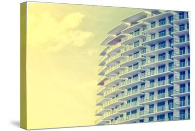 Picture of Buildings and Architecture Details in Miami Beach, Florida-Wilson Araujo-Stretched Canvas Print