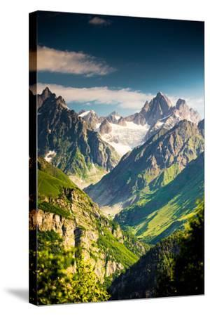 Beautiful Walley in Caucasus Mountains in Upper Svaneti, Georgia-My Good Images-Stretched Canvas Print