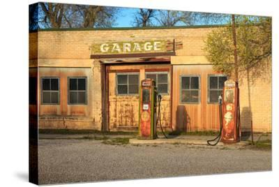 Old Service Station in Rural Utah, Usa.-Johnny Adolphson-Stretched Canvas Print