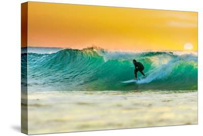 Sunrise Surfing-sw_photo-Stretched Canvas Print
