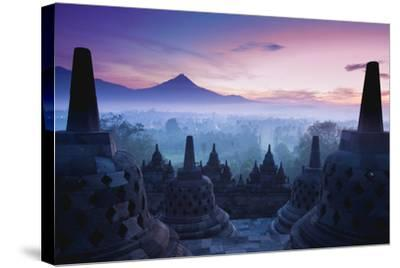 Borobudur Temple, Yogyakarta, Java, Indonesia.- pigprox-Stretched Canvas Print