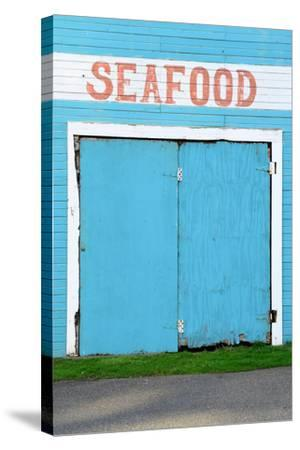 Bandon Oregon Fish Market near Old Town on the Coquille River- TFoxFoto-Stretched Canvas Print