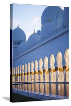 Arches of Grand Mosque of Abu Dhabi-Ahmad A Atwah-Stretched Canvas Print