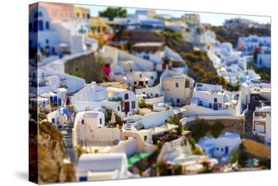 Santorini Island, Greece, Tilt-Shift Effect-anastasios71-Stretched Canvas Print