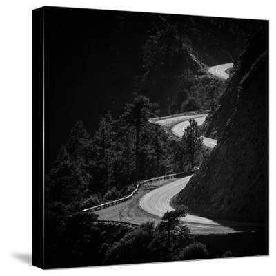 Winding Mountain Road in Black and White-Bryce Eilenberg-Stretched Canvas Print