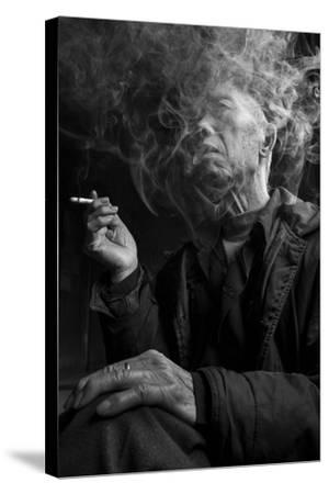 Smoke Man 1-Moises Levy-Stretched Canvas Print