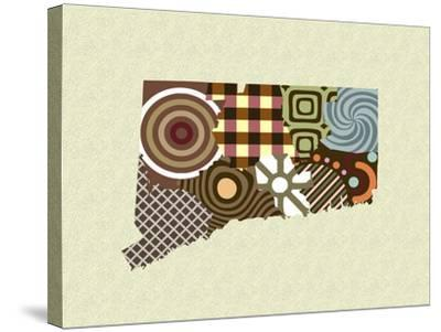 Connecticut State Map-Lanre Adefioye-Stretched Canvas Print