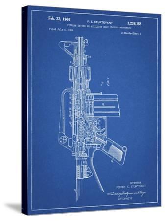 PP44 Blueprint-Borders Cole-Stretched Canvas Print