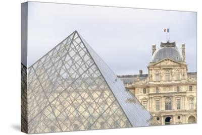 Louvre Palace And Pyramid II-Cora Niele-Stretched Canvas Print
