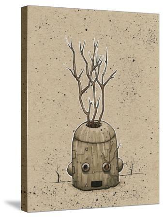 Ink Marker Bot Tree Pot-Craig Snodgrass-Stretched Canvas Print