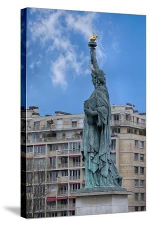 Statue Of Liberty Paris II-Cora Niele-Stretched Canvas Print