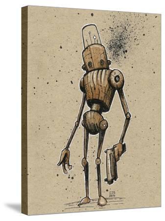 Ink Marker Bot Gunman-Craig Snodgrass-Stretched Canvas Print