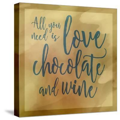 Love, Chocolate And Wine-Cora Niele-Stretched Canvas Print