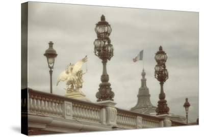 Art Nouveau Lamps Posts on Pont Alexandre III - III-Cora Niele-Stretched Canvas Print