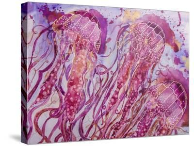 Pink Jellyfish-Lauren Moss-Stretched Canvas Print