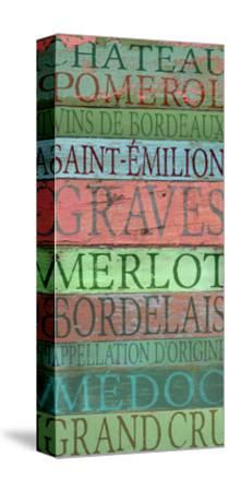Bordeaux Wines-Cora Niele-Stretched Canvas Print