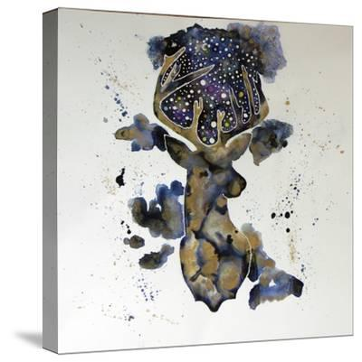 Starry Night Deer-Lauren Moss-Stretched Canvas Print