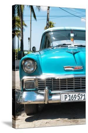 Cuba Fuerte Collection - Turquoise Chevy Classic Car-Philippe Hugonnard-Stretched Canvas Print