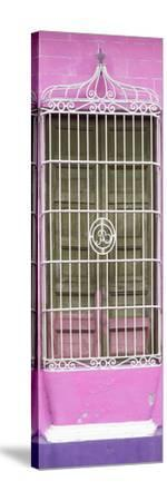 Cuba Fuerte Collection Panoramic - Cuban Pink Window-Philippe Hugonnard-Stretched Canvas Print