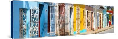 Cuba Fuerte Collection Panoramic - Colorful City-Philippe Hugonnard-Stretched Canvas Print