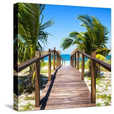 Cuba Fuerte Collection SQ - Wooden Jetty on the Beach-Philippe Hugonnard-Stretched Canvas Print