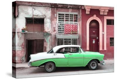 Cuba Fuerte Collection - Green Classic Car in Havana-Philippe Hugonnard-Stretched Canvas Print