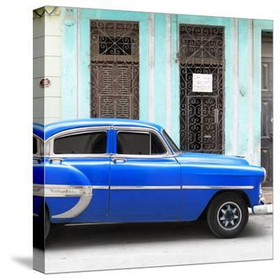 Cuba Fuerte Collection SQ - Bel Air Classic Blue Car-Philippe Hugonnard-Stretched Canvas Print