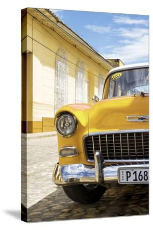 Cuba Fuerte Collection - Cuban Yellow Car - 1955 Chevy-Philippe Hugonnard-Stretched Canvas Print