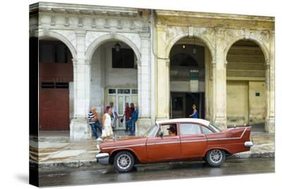 Cuba Fuerte Collection - Havana Street Scene-Philippe Hugonnard-Stretched Canvas Print