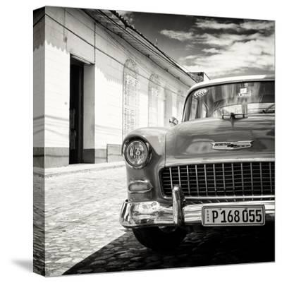 Cuba Fuerte Collection SQ BW - Old Classic Car 1955 Chevy-Philippe Hugonnard-Stretched Canvas Print