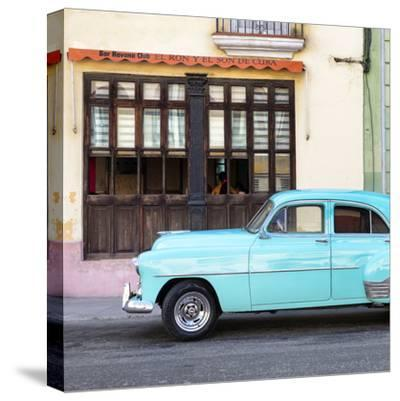 Cuba Fuerte Collection SQ - Havana Club and Blue Classic Car-Philippe Hugonnard-Stretched Canvas Print