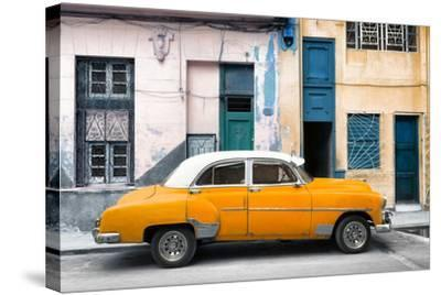 Cuba Fuerte Collection - Havana's Orange Vintage Car-Philippe Hugonnard-Stretched Canvas Print