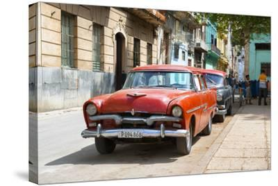 Cuba Fuerte Collection - Red Classic Car in Havana-Philippe Hugonnard-Stretched Canvas Print