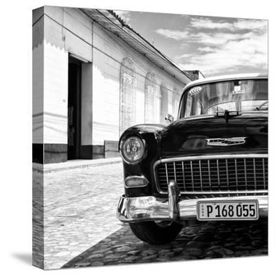 Cuba Fuerte Collection SQ BW - Classic Car 1955 Chevy-Philippe Hugonnard-Stretched Canvas Print