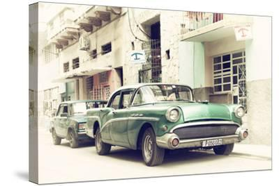 Cuba Fuerte Collection - Cuban Taxi to Havana-Philippe Hugonnard-Stretched Canvas Print