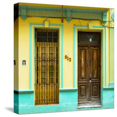 Cuba Fuerte Collection SQ - 612 Street Havana - Yellow and Green-Philippe Hugonnard-Stretched Canvas Print