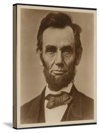 Abraham Lincoln in the Classic Portrait by Alexander Gardner of November 15, 1863--Stretched Canvas Print