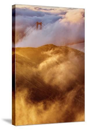 Fog Gate Golden Gate Bridge Unique Perspective San Francisco California-Vincent James-Stretched Canvas Print