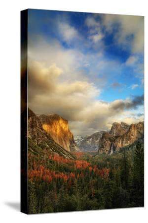 Light & Storm Clears at Tunnel View El Capitan Half Dome Yosemite National Park-Vincent James-Stretched Canvas Print