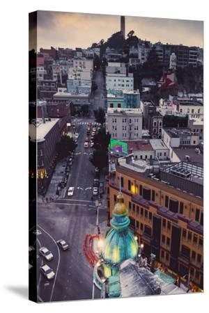 Over North Beach Sentinel Building Coit Tower San Francisco-Vincent James-Stretched Canvas Print