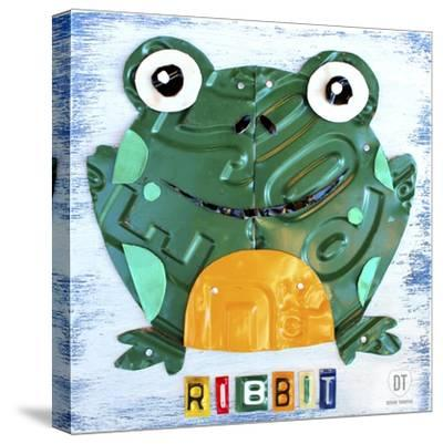 Ribbit the Frog-Design Turnpike-Stretched Canvas Print